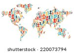 group of colorful people... | Shutterstock .eps vector #220073794