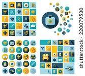 set of flat design concept... | Shutterstock .eps vector #220079530