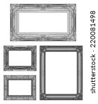 set 4 of vintage gray frame... | Shutterstock . vector #220081498