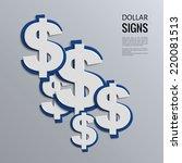 vector illustration. dollars... | Shutterstock .eps vector #220081513
