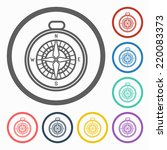 compass icon   Shutterstock .eps vector #220083373