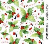 Christmas Seamless Watercolor...