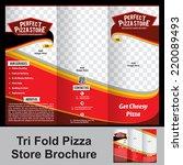 tri fold pizza store brochure... | Shutterstock .eps vector #220089493
