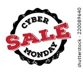 cyber monday sale stamp eps10... | Shutterstock .eps vector #220089640