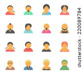 set of simple face avatar...   Shutterstock .eps vector #220089784