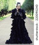 Dark Queen In Park. Fantasy...