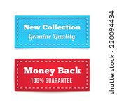 new collection and money back... | Shutterstock . vector #220094434