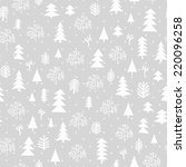 winter forest background. ... | Shutterstock .eps vector #220096258