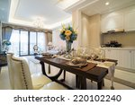luxury dining room with nice... | Shutterstock . vector #220102240