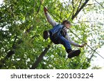 young child having fun  in a... | Shutterstock . vector #220103224