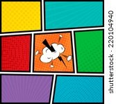 comics pop art style blank... | Shutterstock .eps vector #220104940