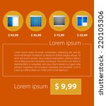 vector ad layout for sale of... | Shutterstock .eps vector #220105306