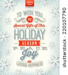 vector christmas illustration   ... | Shutterstock .eps vector #220107790