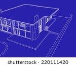 abstract modern house... | Shutterstock . vector #220111420