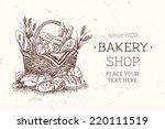 bakery basket food template.... | Shutterstock .eps vector #220111519