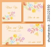 flower vector banners for... | Shutterstock .eps vector #220122550