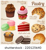 set of food icons. pastry.... | Shutterstock .eps vector #220125640