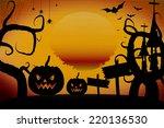 halloween pumpkin stainless...   Shutterstock . vector #220136530