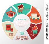 e shopping step by step vector... | Shutterstock .eps vector #220137010