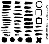 black blobs set | Shutterstock . vector #220138699