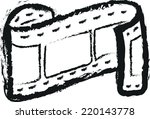 doodle film strip | Shutterstock .eps vector #220143778