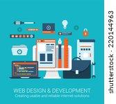 modern flat design concept for...   Shutterstock .eps vector #220144963