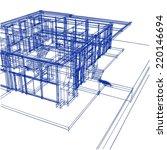 modern building architecture... | Shutterstock . vector #220146694