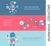 online social media company... | Shutterstock .eps vector #220147369