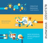 creative process branding web... | Shutterstock .eps vector #220147378