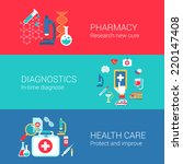 pharmacy diagnostics healthcare ... | Shutterstock .eps vector #220147408