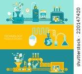 process factory technology...   Shutterstock .eps vector #220147420