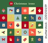 Set Of Cute Christmas Icons For ...