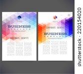abstract vector template design ... | Shutterstock .eps vector #220154020