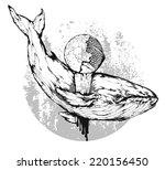 vector grunge illustration  ...   Shutterstock .eps vector #220156450