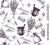 vector seamless pattern with ... | Shutterstock .eps vector #220162063