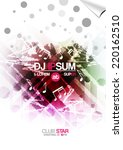 disco party poster background... | Shutterstock .eps vector #220162510