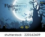 halloween background | Shutterstock .eps vector #220162609