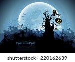 halloween background | Shutterstock .eps vector #220162639