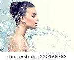 beautiful model woman with... | Shutterstock . vector #220168783