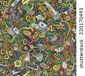 cartoon vector doodles hand... | Shutterstock .eps vector #220170493