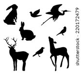 Forest Animals Silhouette Set....