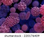 Abstract 3d Bacteria Virus...