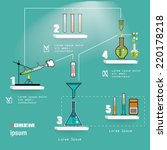 chemistry laboratory... | Shutterstock .eps vector #220178218