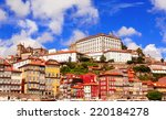 houses in old part of ribeira... | Shutterstock . vector #220184278