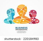 social vector teamwork...   Shutterstock .eps vector #220184983
