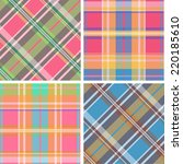 collection of seamless plaid... | Shutterstock .eps vector #220185610