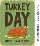 Thanksgiving Day. Retro Poster...
