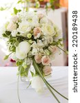 floral arrangement in a wedding ... | Shutterstock . vector #220189438