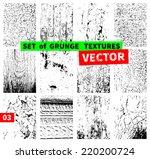 set of grunge textures. vector... | Shutterstock .eps vector #220200724