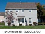 little blue house   Shutterstock . vector #220203700